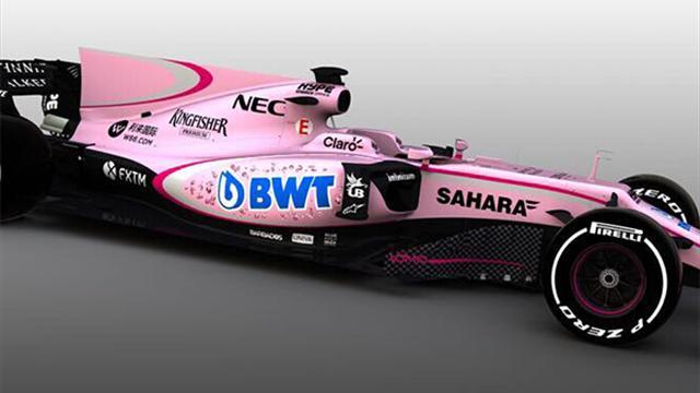 Un rose synonyme de joli pactole pour Force India