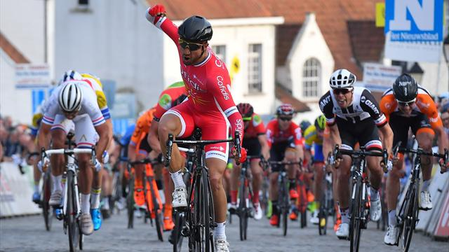 El puñetazo que más necesitaba Nacer Bouhanni antes de la Milán-San Remo
