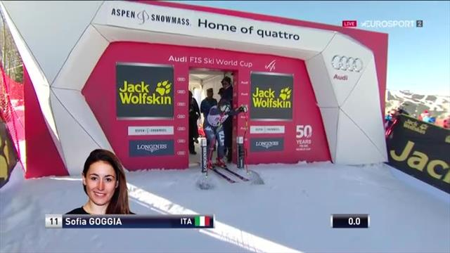 Goggia in nasty high-speed fall after catching an edge