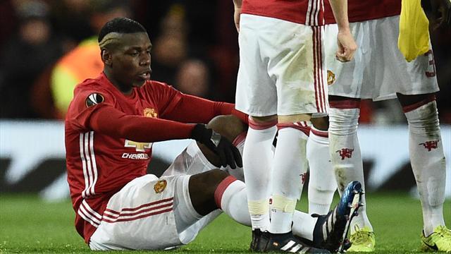 Pogba blessé et forfait avec les Bleus selon Mourinho