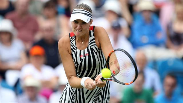 Kristina Mladenovic and Elina Vesnina set up Indian Wells semi-final
