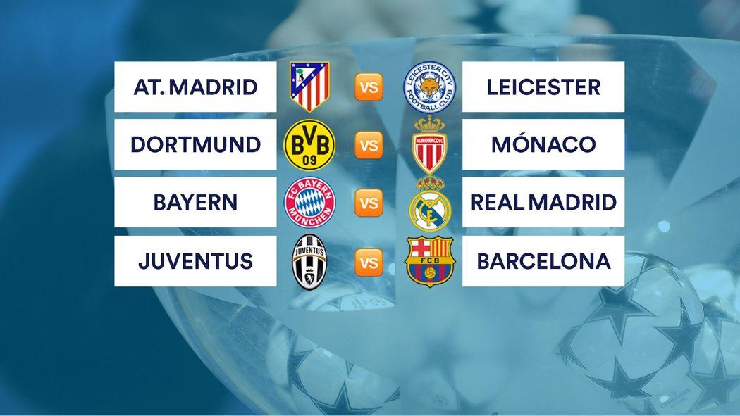 Atlético-Leicester, Bayern-Madrid y Juventus-Barça en cuartos de ...