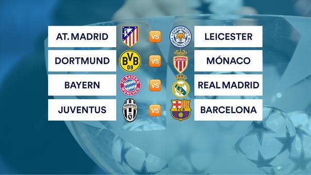 Atlético-Leicester, Bayern-Madrid y Juventus-Barça en cuartos de final de Champions