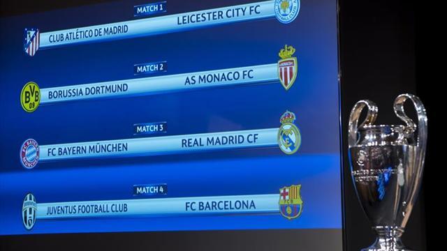 Bayern-Real Madrid y Juventus-Barça grandes duelos de cuartos
