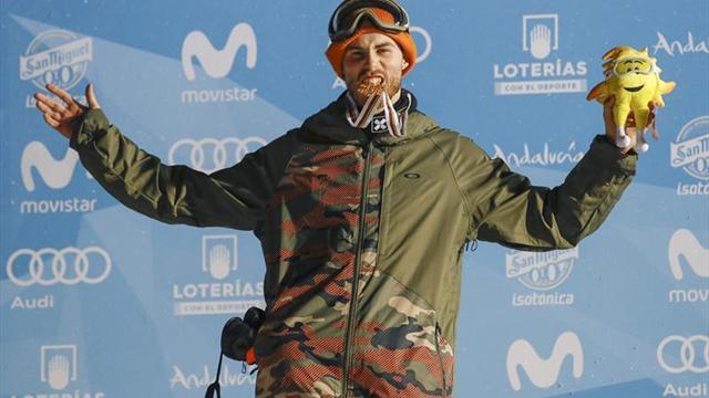 Staale Sandbech gana el oro para Noruega en el Big Air de snowboard
