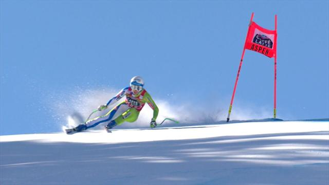 Shiffrin wins Crystal Globe as Stuher pulls out of slalom