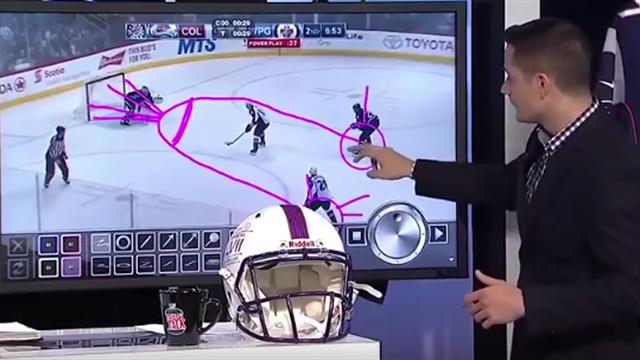 Хоккейный эксперт нарисовал пенис, объясняя тактику матча «Виннипег» – «Колорадо»