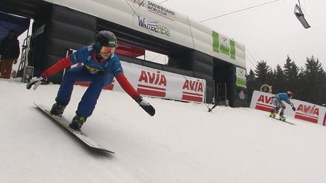 Sabine Schoeffman wins thriller in parallel slalom final