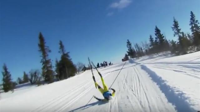 Снегоход сбил Сундбю во время марафона в Норвегии