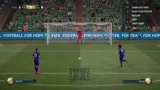 Самое странное и нереалистичное исполнение пенальти от Виллиана в FIFA 17