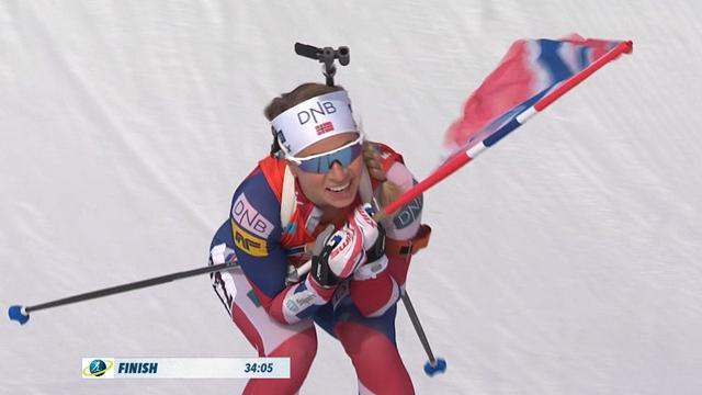 Koukalova comes second to Eckhoff, but wins World Cup mass start title