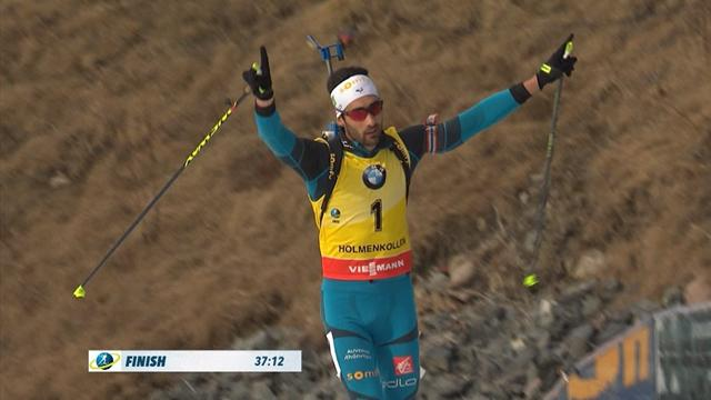 Biathlon, gli highlights della mass-start di Oslo: Fourcade, vittoria e record