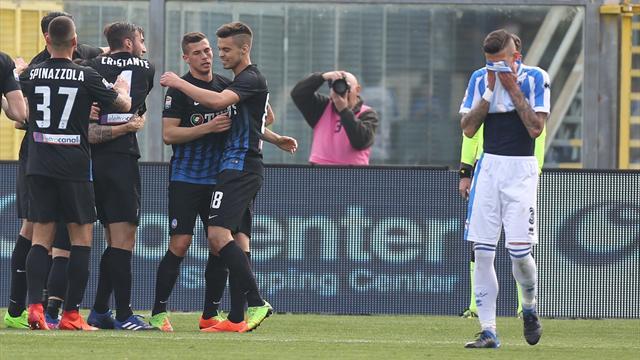 Doppio Gómez-Grassi, l'Atalanta aggancia e dimentica l'Inter: 3-0 al Pescara