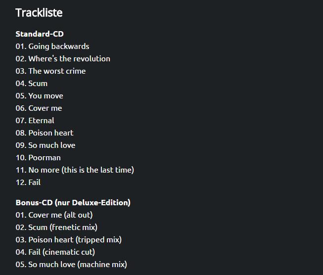 Треклист Depeche Mode