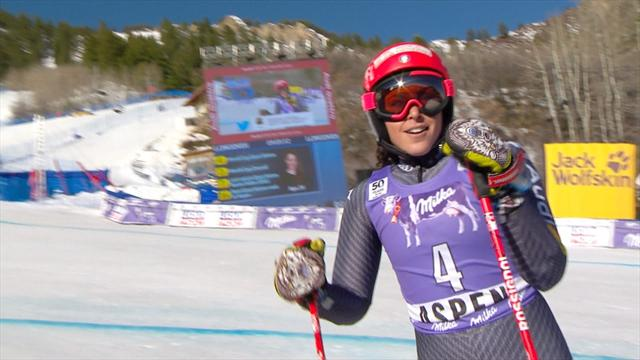 Brignone leads giant slalom after immaculate first run