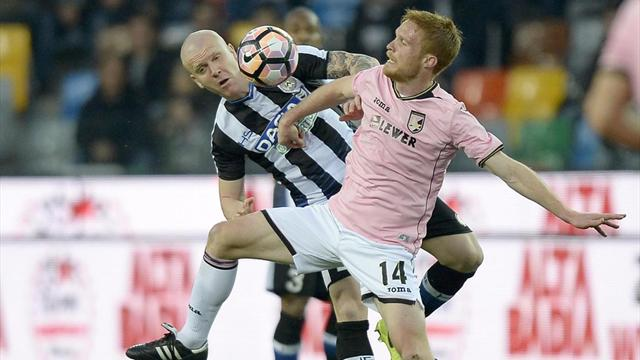 Le pagelle di Udinese-Palermo 4-1