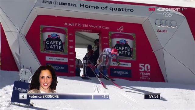 Il gigante perfetto: Federica Brignone vince ad Aspen davanti a Goggia e Bassino