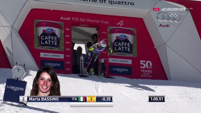 Marta Bassino terza nel gigante di Aspen: la sua seconda manche