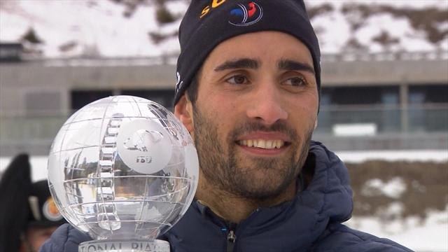 Fourcade overcomes bullet mishap to win in Oslo