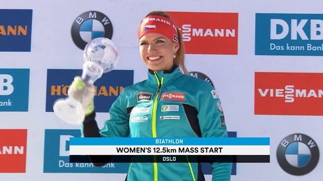 Koukalova claims mass start Crystal Globe