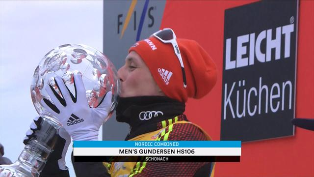 Frenzel wraps up fifth straight Nordic Combined title