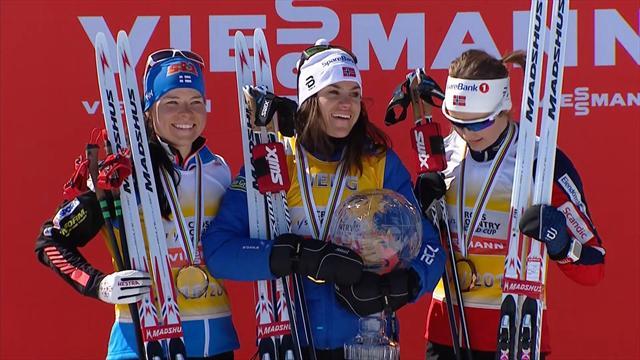 Marit Bjoergen wins season-ending pursuit finale
