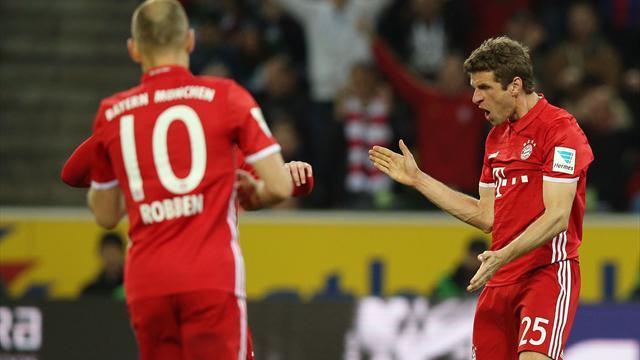 Erstes Bundesliga-Tor seit 99 Tagen: Müller schießt Bayern zum Sieg in Gladbach