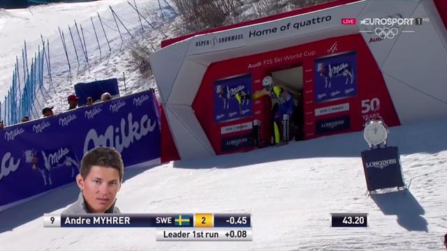 Andre Myhrer vince lo speciale di Aspen: la sua seconda manche