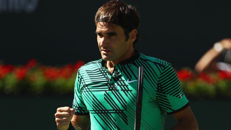 Roger Federer à Indian Wells.