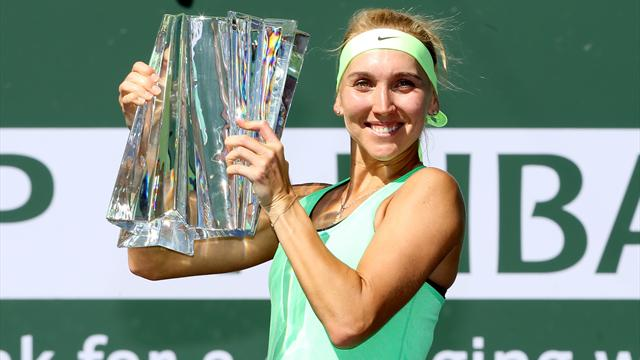 Vesnina tops Kuznetsova in marathon Indian Wells final