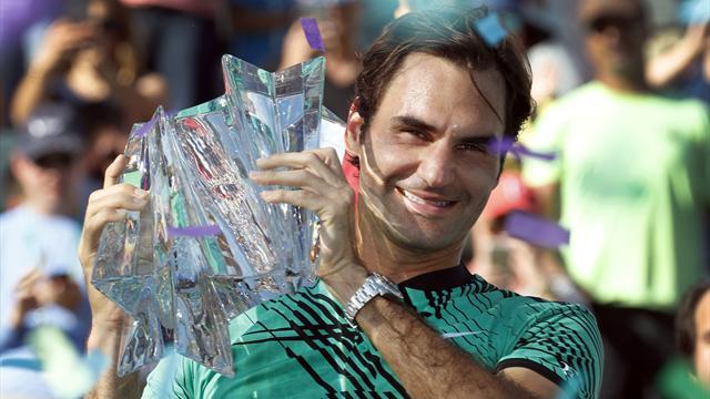 Federer agranda su leyenda con su quinto Indian Wells ante Wawrinka (4-6 y 5-7)