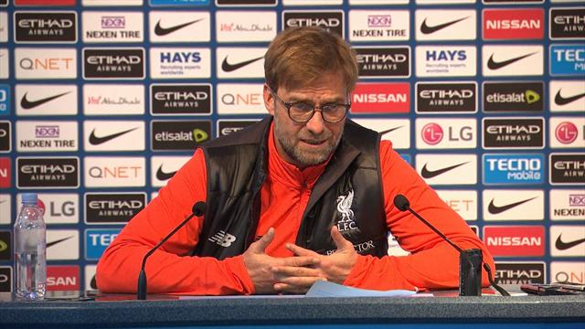 Jurgen Klopp: 'I can't run around after draw at Manchester City'