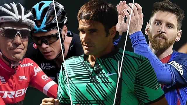 Contador-Froome, Federer y Messi, los nombres del día