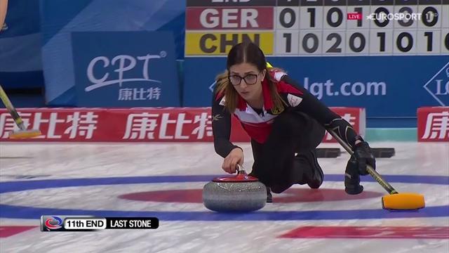 Curling-WM: Extrem nervenstark - Jentsch setzt entscheidenden Stein gegen China