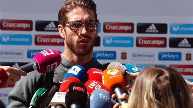 Ramos: Nos gusta el morbo a Piqué y a mí; ahora nos daremos un abrazo