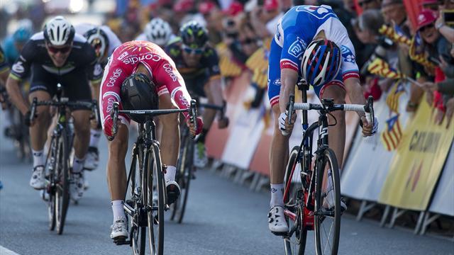 Cimolai a surgi pour remporter la première étape