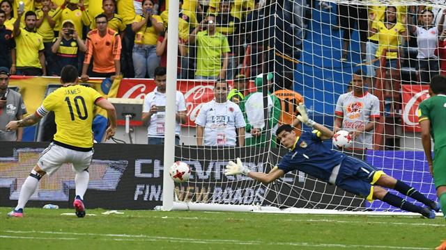 James salva a Colombia una vez más pese a fallar un penalti (1-0)