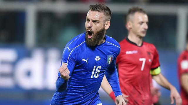 Clasificación Mundial 2018, Italia-Albania: Más presión a España (2-0)