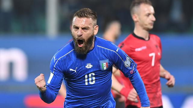 Italy dispatch Albania in match disrupted by crowd trouble