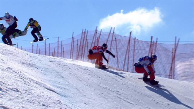 Vaultier triumphs in Veysonnaz snowboard cross final