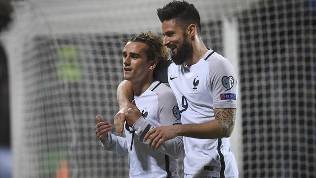 Clasificación Mundial 2018, Luxemburgo-Francia: Griezmann y Giroud salvan los muebles (1-3)