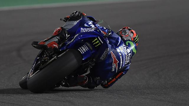 Vinales wins delayed and shortened MotoGP opener