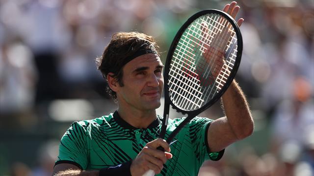 Federer eases past Del Potro in Miami