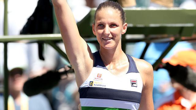 Pliskova, Wozniacki advance to Miami semi-finals