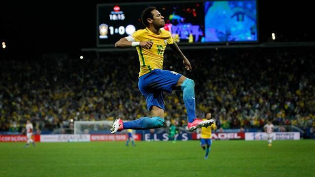 Clasificación Mundial 2018, Brasil-Paraguay: Neymar decide de nuevo (3-0)