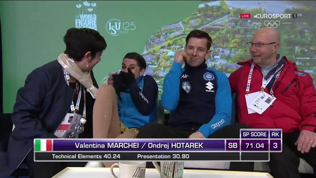 """""""Oh my God"""", Valentina Marchei e Ondrej Hotarek esultano per il primato italiano"""