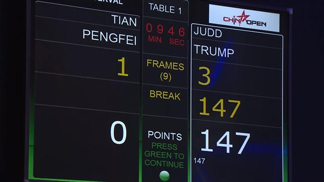 Her briljerer Trump på snookerbordet!