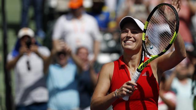 Wozniacki beats second seed Pliskova to reach Miami final