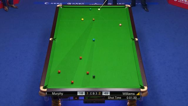 Meraviglioso Mark Williams: tiro con angolo impossibile e rossa in buca