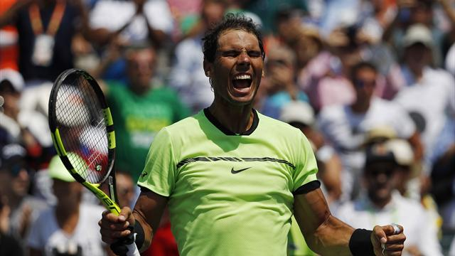 Nadal downs Fognini to reach fifth Miami final